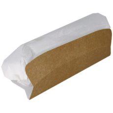 Porta panino lungo in cartone, per asporto e take away