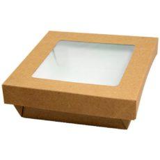 Scatola quadrata con coperchio rimovibile a finestra 3000 ml-per-asporto-alimenti-take-away