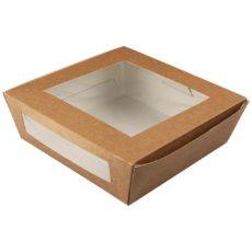 catola in cartone quadrata per alimenti da asporto, con doppia finestra 900 ml