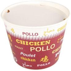 In cartone rinforzato, è ideale per il trasporto di cibi fritti, come pollo, pepite di pollo, patate fritte, take away