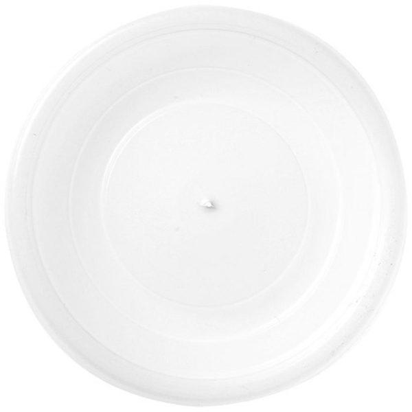 Coperchio piatto trasparente in polistirolo per bicchiere di carta 100 ml-per-asporto