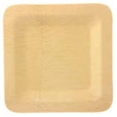 Piatto quadrato di bambou lato 23 cm