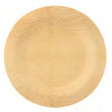 Piatto rotondo di bamboo diametro 23 cm