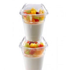 Coperchio-a-cupola-impilabile-biodegradabile-in-PLA-con-foro-per-bicchieri-200-300-320-ml