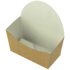 Porta panino e fritti con chiusura take away avana per asporto-Prezzo a cartone da 1000 pezzi.